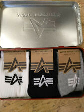 Alpha Industries Basic Socks 3er Pack in Metalldose mixed Colors 198933-442