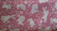 Japanese Tenugui Kendo Tapestry  USAGI RABBIT Pink Cotton 100% Made in Jaan