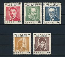 Mexico  C396-400 MNH, Famous People, 1972