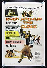 ROCK AROUND THE CLOCK * CineMasterpieces 1955 VINTAGE MOVIE POSTER ROCK AND ROLL