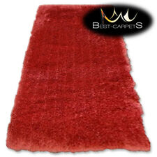 "MODERN SOFT & THICK RUG SHAGGY ""MACHO"" brick Polyester HIGH QUALITY carpets"