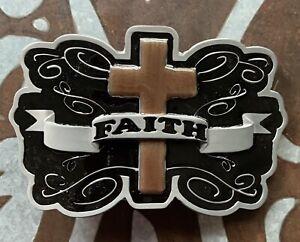 """FAITH CROSS BELT BUCKLE NEW APPROX. 4"""" X 2 3/4"""""""