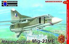 MiG-23 MF FLOGGER B (POLISH, GERMAN & CZECHOSLOVAK AF MKGS) 1/72 KOVOZAVODY / KP