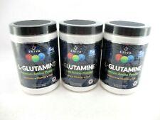 Lot of 3 Eniva L-Glutamine Premium Amino Powder Dietary Supplement