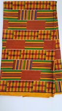 Multicolor Kente Fabric; African Clothing; African Fabric; Fabric in yard, kente