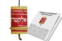 PENDOLO EBREO METUTELET con 35 etichette di crescita personale +manuale spagnolo