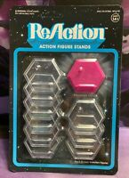 """Reaction 3.75"""" Action Figure Stands 10 Stands Per Pack MOC New"""