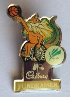 Cadbury Fundraiser Paralympics Lizad Basketball Advertising Pin Badge Rare (F6)