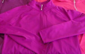 Jo-Fit SWING Greg Norman GOLF Sizes L & XL Quarter-zip Pull-over Mix Colors EUC!