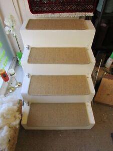 Large Flatweave Sisal carpet stair pads treads Natural Gold Beige 62cm x 25cm