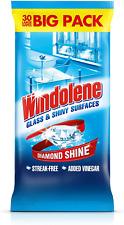 Windolene Glass Cleaner 30 Sheets Diamond Shine Vinegar x 3 Big Packs 90 Sheets