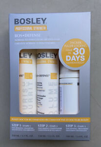 Bosley Bos-Defense Starter Pack for Normal To Fine Color Treated Hair Shampoo