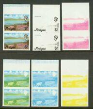 Antigua 1976 Dam $1 progressive proof pairs