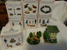 LIBERTY FALLS VILLAGE  Pewter Collection 4 Boxes plus 3 Accessories
