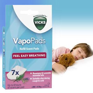 Vicks Vapopads Rosemary Lavender 7 Refill Pads | Vicks VBR7 - Pack of 7