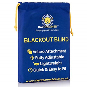 Daydreamer Blinds - Blackout Blinds Stick On Window -Temporary - Bedroom - Black