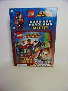 DC Comics LEGO Super Heroes Wonder Woman Headlamp & 3 Book Gift Set  NEW