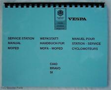 Vespa Piaggio Moped Service Manual Ciao, Bravo & Si
