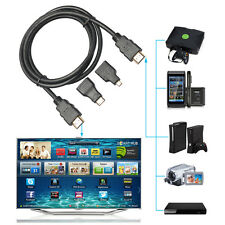 1.5M 3 in1 High Speed HDMI to Mini Micro HDMI V1.4 Adapter Converter Cable 1080P