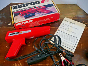 Vintage Actron DC Powered Clamp-On Timing Light Model L-200 Made in USA