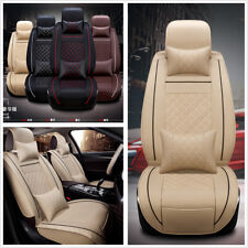 Deluxe Edition Auto 5-Seats-Car 2 Front Seat Cover PU Leather Cushions Pillows M
