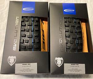 Pair Schwalbe 29 X 2.25 Nobby Nic Tan Wall Folding Tyres