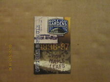 NHL Toronto Maple Leafs 1996-97 Maple Leaf Gardens 65TH Anniversary Schedule