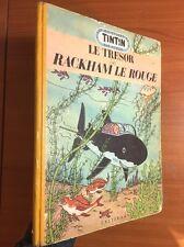 TINTIN: Le Tresor Rackham Le Rouge 1952 1st Medallion Edition Originale EO Herge