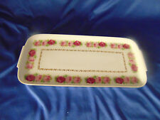 Rectangle dish Bavaria Germany hors d'oeuvers floral roses china porcelain plate
