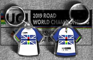 UCI road world championship 2019  t-shirt / jersey keyring YORKSHIRE rainbow