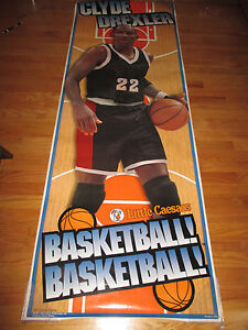 1996 CLYDE DREXLER Little Caesars PORTLAND TRAILBLAZERS Hugh Door Poster