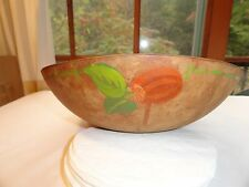 """BEAUTIFUL HAND PAINTED 11"""" WOODEN BOWL"""