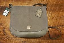 NWT RALPH LAUREN Cobden Saddle Bag Steel Grey Suede Leather Crossbody Messenger