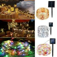 65FT 200LED Solar Fairy String Light Copper Wire Outdoor Waterproof Garden Decor