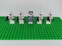 Custom Lego Star Wars Minifigures Red Clone Troopers and Commander Lot of 5