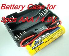 2 Lot Battery Box Holder Batteries Case for 3pcs AAA, 3A  (4.5V) with 6'' Leads