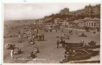 Dorset Postcard  - The West Beach - Bournemouth - Real Photograph  U1098