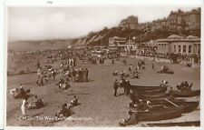 Dorset Postcard  - The West Beach - Bournemouth - Real Photograph  U1098