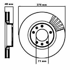 NEW CITROEN XM & PEUGEOT 605 FRONT BRAKE DISCS 95637322 95661812 96054779 DSK728