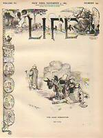 1885 Life December 3- Vaccination Bees; Organ Grinder