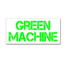 Green Machine - Hybrid Car - Window Bumper Sticker