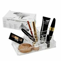 8 Section Clear Acrylic Make Up Lip Stick Holder Cosmetic Organiser Beauty Box