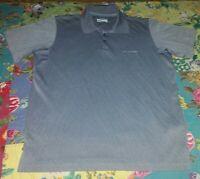 EUC Men's Size Medium Gray Columbia Omni-Shade Short Sleeve Golf/Polo Shirt