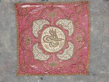 Antico Turco Ottomano filo dorato fatto a mano arte tessile 47X46cm (X209)