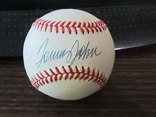 Tommy John Autograph / Signed baseball New York Yankees