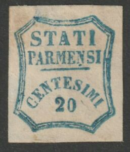 PARMA Governo Provv. 1859 - 20c nuovo con gomma originale, firmato / P28281