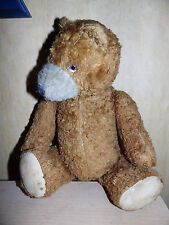 Âge Teddy, vintage, old bear, nounours, 5 fois structuré, 33,5 cm Grand