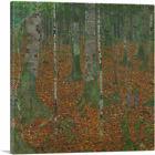 ARTCANVAS Birch Forest 1903 Canvas Art Print by Gustav Klimt