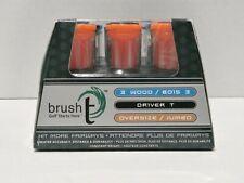 Brush-T Multi Pack 9 Golf Tees 3 Wood 3 Driver 3 Oversize Golf Tee Fairways