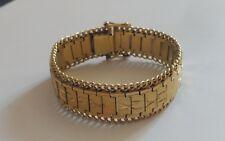 Imposant bracelet en plaqué or jaune 18 k